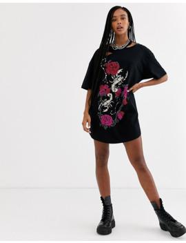 one-above-another-–-Übergroßes-t-shirt-kleid-mit-grunge-design by asos
