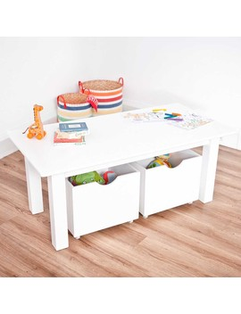 White Play Table With Storage Boxes by Jo Jo Maman Bebe