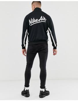 nike-–-schwarze-trainingsjacke-mit-kontrastierenden-streifen-und-logo by asos
