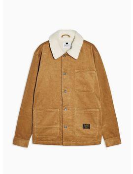 tan-corduroy-borg-chore-jacket by topman