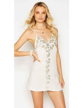 Beach Bunny Anaya Mini Dress In Ivory by South Beach Swimsuits
