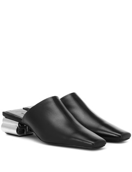 typo-leather-mules by balenciaga