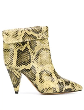 snakeskin-ankle-boots by isabel-marant