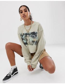 reclaimed-vintage-inspired-–-kurzes-sweatshirt-mit-fotodruck by asos