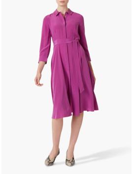 hobbs-silk-lainey-shirt-dress,-deep-orchid by hobbs