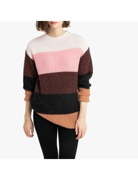 striped-colour-block-jumper-with-round-neck by la-redoute-collections