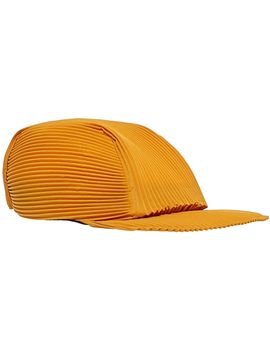 Men's Orange Accordion Baseball Cap by Homme Plissé Issey Miyake