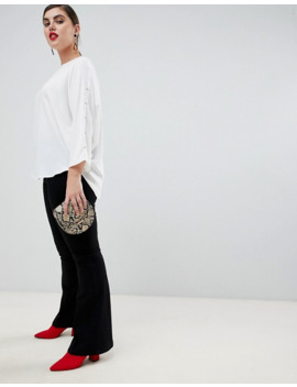 river-island-plus-blouse-with-embellished-detail-in-ivory by asos