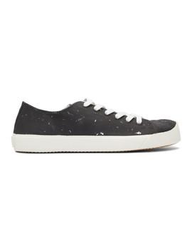 black-&-silver-defile-vandal-tabi-sneakers by maison-margiela