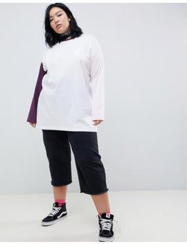 chorus-plus-contrast-panel-ringer-long-sleeved-t-shirt by asos