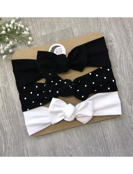 the-black-set-_-baby-headband-_-newborn-headband-_-baby-headbands-_-toddler-headband-_-infant-headband-_-baby-headwrap-_-baby-bows by etsy