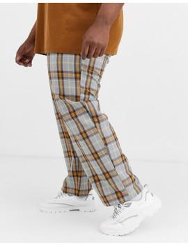 collusion-plus-skater-check-trouser by collusion
