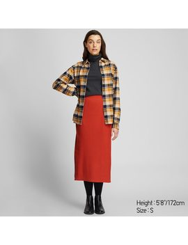 women-ribbed-long-pencil-skirt by uniqlo
