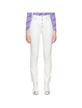 white-tube-jeans by balenciaga