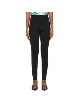 black-logo-jogger-leggings by balenciaga
