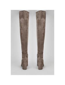 grey-slouchy-high-leg-boots by wallis