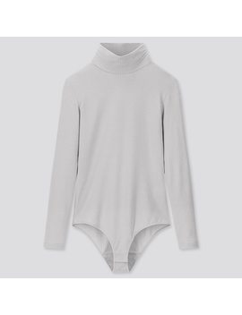 women-heattech-extra-warm-ribbed-high-neck-bodysuit by uniqlo