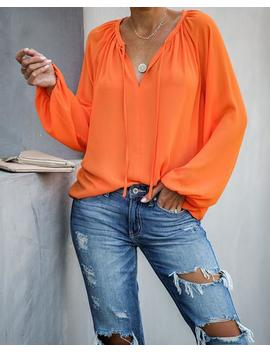 down-to-business-blouse---orange by vici