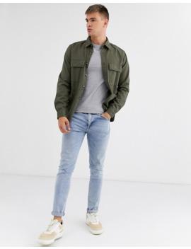 burton-menswear-overshirt-in-khaki by burton-menswear-london