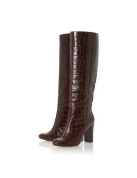 brown-leather-simonne-high-block-heel-knee-high-boots by dune