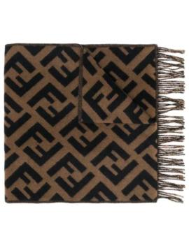 zucca-logo-cashmere-scarf by fendi