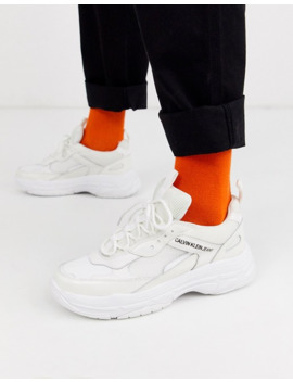 calvin-klein-marvin-chunky-trainers-in-triple-white by calvin-klein