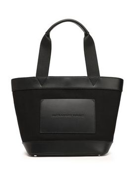 paneled-leather-and-canvas-tote by alexander-wang