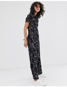 finery-–-alida-–-mit-abstrakten-gesichtern-bedruckter-jumpsuit by asos