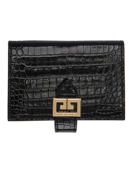 black-croc-gv3-card-holder by givenchy