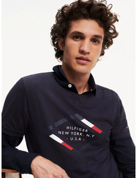 Diamond Logo Organic Cotton T Shirt by Tommy Hilfiger