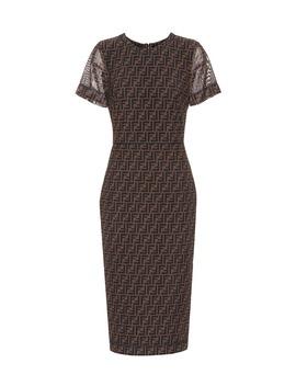 printed-micro-mesh-midi-dress by fendi