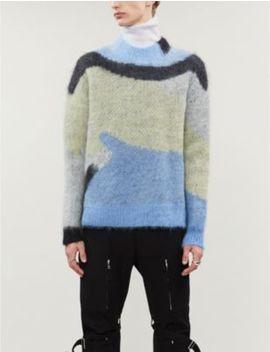 graphic-knit-mohair-blend-jumper by ambush