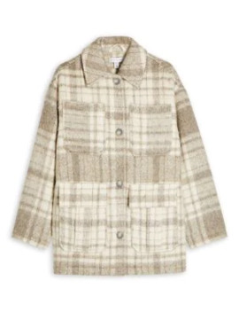 wool-blend-check-jacket by topshop