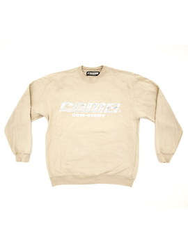 crewneck-com8-beige-reflectif by wasted