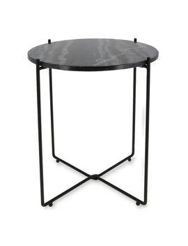 "table-dappoint-""agneta""-en-marbre-noir-copenhagen by compactor"