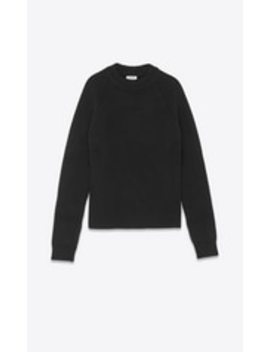 wool-and-cashmere-sweater-in-a-cardigan-rib by saint-laurent