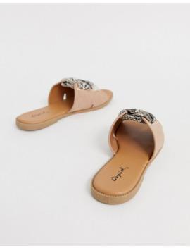 qupid-mule-flat-sandals-in-snake by asos