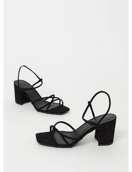 forever-strappy-chunky-faux-suede-heels by gojane