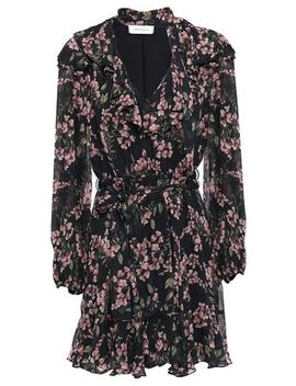 tie-neck-ruffled-floral-print-georgette-mini-dress by zimmermann