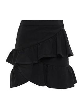 mica-wrap-effect-ruffled-crepe-mini-skirt by iro