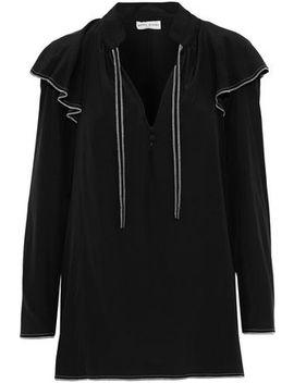 ruffled-washed-silk-blouse by sonia-rykiel