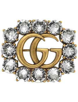 metal-double-g-brooch-with-crystals by gucci