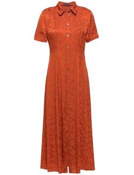 ruffled-satin-jacquard-midi-shirt-dress by alexachung