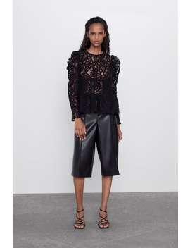 lace-blouse-with-voluminous-sleeves by zara