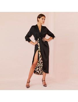 Animal Print Reversible Wrap Dress by Never Fully Dressed