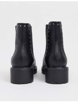 london-rebel-wide-fit-chunky-flat-chelsea-boots-in-black by asos