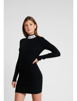 monogram-tape-dress---strickkleid by calvin-klein-jeans