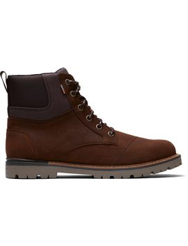 Waterproof Brown Waxy Suede Rugged Men's Ashland Boots by Toms