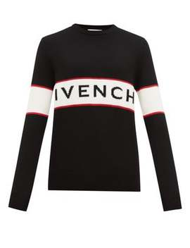 logo-jacquard-wool-sweater by givenchy