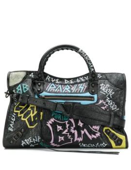 classic-city-graffiti-long-strap-bag by balenciaga